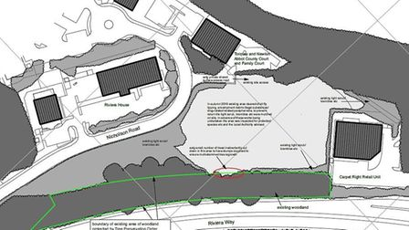 Location of proposed 'Park and Stride' car park for Torbay Hospital
