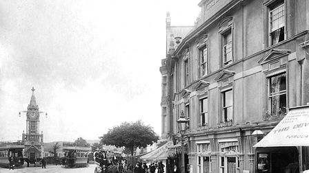 Torquay's oldest hotel - The Royal Hotel in 1909 (PR4802)