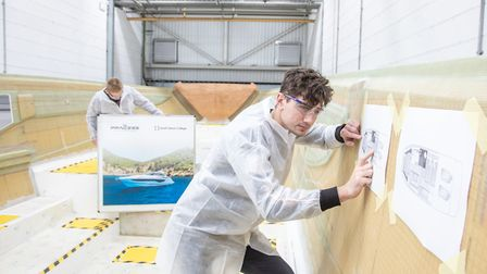 South Devon College is home to a dedicated Princess Yachts Learning Academy workshop facility. Photo