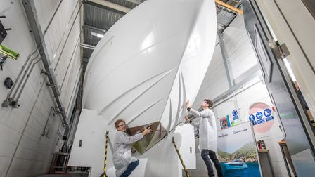 The dedicated Princess Yachts Learning Academy workshop facility at South Devon College. Photo: Roy