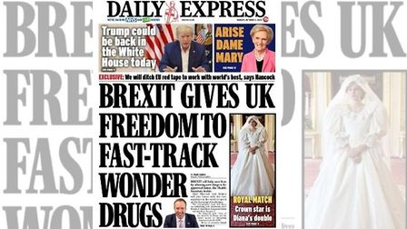 """Daily Express front claims Brexit could help """"save lives"""""""