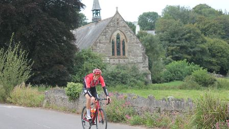 Freddie Scheske (Vitus Pro Cycling p/b Brother UK), riding through Avonwick. Photo: Tour of Brtiain
