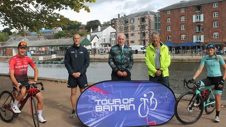 The launch of the Devon Stage of the 20201 Tour of Britain. Photo: Tour of Britai