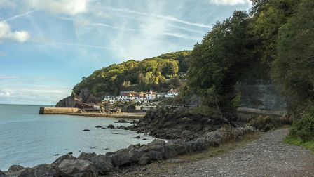 Babbacombe Beach and Bay in a view from Anstey's Cove, Torquay