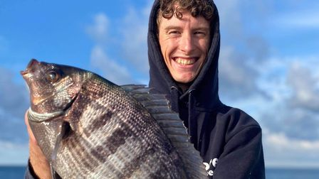 Shay Upham with a 1lb 10oz black bream