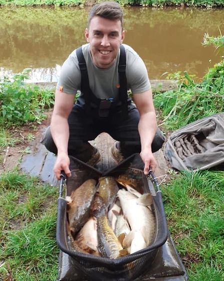 Jason Fay, total weight 86lb 6oz from Spring Ponds