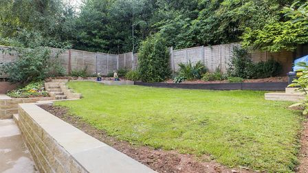 The rear garden is very private