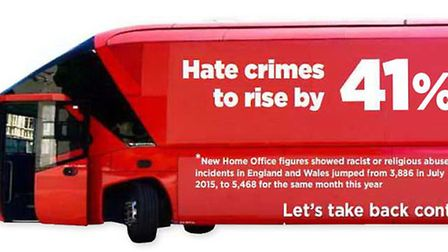 Hate crimes to rise by 41%according to new Home Office figures