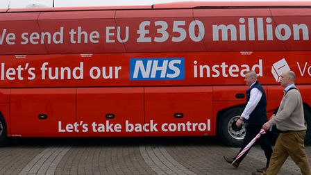 File photo dated 11/05/16 of The Vote Leave campaign bus, as pro-EU MPs have demanded that ministers