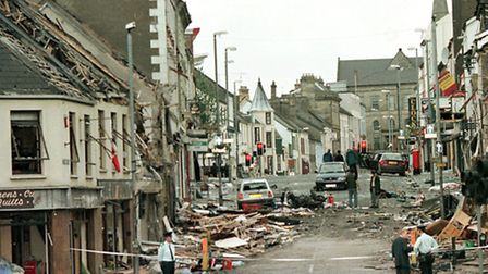 The August 1998 car-bomb attack on the town of Omagh that killed 29 people, mostly women and childre