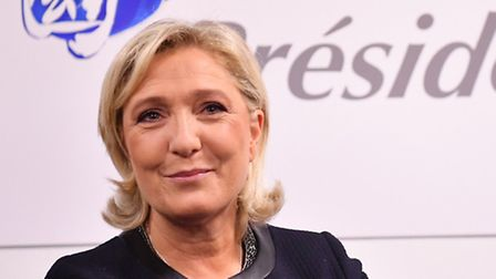 French far-right party Front National (FN) president and candidate for the 2017 presidential electio