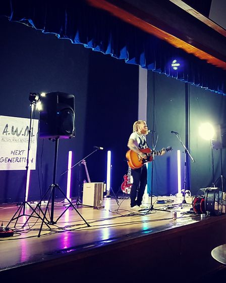 Alton Wahlberg performing at Thetford Live Acoustic Night 6 held at Charles Burrell Centre. Picture: