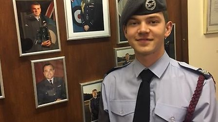 Cadet Sergeant Ben Stevenson, who has passed a demanding leadership course. Picture: Thetford Air Ca