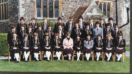 STAFF - The class of 1983/85 back in their school days. picture SABRINA JOHNSON