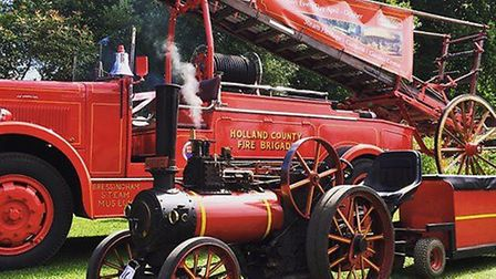 Fire Engine Rally at Bressingham Steam Museum. Photo: Bressingham Steam Museum