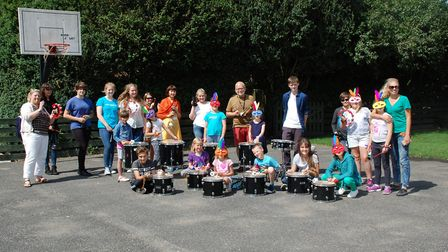 Youngsters from the Friends of Chernobyl's Children charity were given a music workshop from staff a