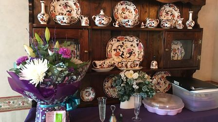 Husband and wife Wayland Festival duo were given gifts and flowers at a party held to thank them for