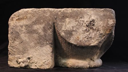 A carved stone which was once part of one of Thetford's medieval buildings. Picture: Ancient House M