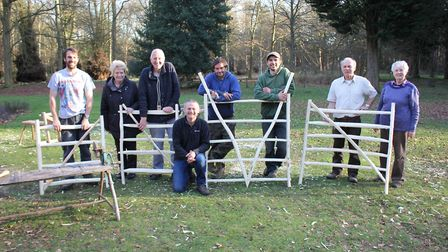 Participants at a hurdle making workshop which was part of the Sheep in the Brecks project. Picture: