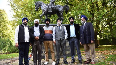 Members of the Gurdwara Baba Budha Sahib Ji Sikh temple to find out more about Maharaja Duleep Singh