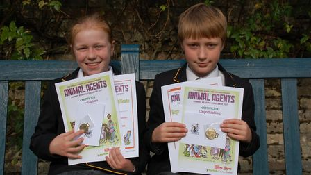 Thetford Grammar School year six twins Ailish and Jacob completed the Summer Reading Challenge. Pict