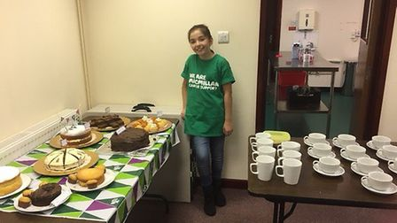 Mildenhall College Academy pupil Skye Kerins raised more than £200 for Macmillan Cancer Support afte