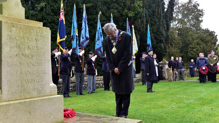 Remembrance servuce held at St Ethelberts Church, Wretham in 2015. Picture: Sonya Duncan