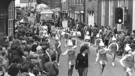 Crowds gather for the carnival procession in 1986. Picture: Archant Library