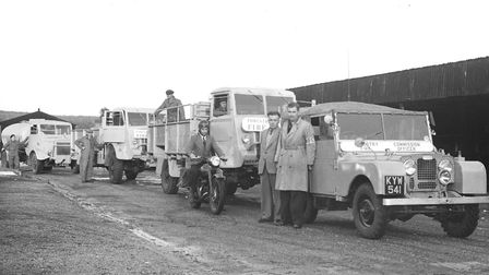 Thetford Forest fire officers and vehicles. Picture: Archant Library
