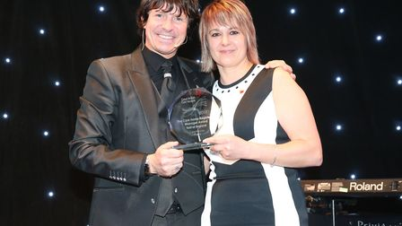 The Beeches home manager Loreta Moss won her category at the Great East Care Awards so is celebratin