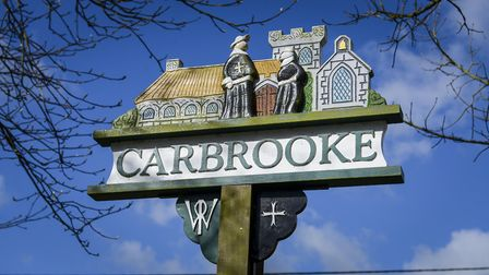 Carbrooke village sign. Picture: Matthew Usher.