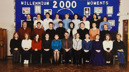 Staff at Thetford's Redcastle Family School in 2000