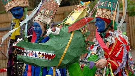 A previous Plough Monday event in Northwold. Pictured are the St Andrew's Mummers. Picture: Denise B