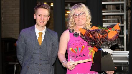 A previous TARA awards. Tom Bamford presents the Sporting award to Melanie Sturman. Picture: Georgie
