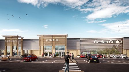 Artist's impression of the proposed Breckland Retail Park in Thetford. Picture: Urban Edge Architect