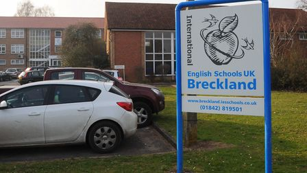 IES Breckland school in Brandon is closed due to power cuts and strong winds. Picture: Sonya Duncan