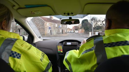 Out on shift with Norfolk Police. PC Amy Lucas and PC David Sayer. Picture: Sonya Duncan