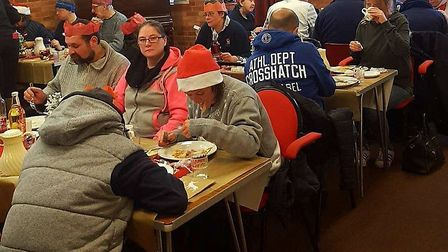 Christmas day lunch held at Thetford's Open Christmas Day. Picture: Sharon Nash