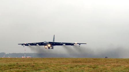 A US Air Force B-52 Stratofortress was diverted to RAF Mildenhall recently due to due to inclement w