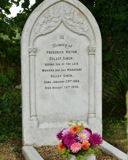 The grave of Prince Frederick Duleep Singh at Blo' Norton. Picture: Sonya Duncan