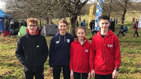 Thetford AC junior athletes pictured at the recent Cross Country Championships. Picture: Jessica Nor