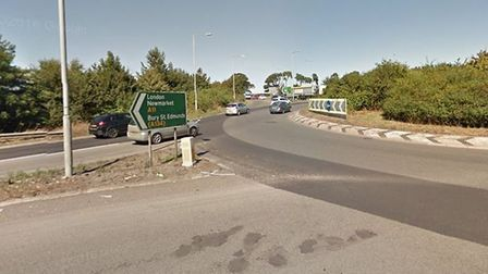 The A11 roundabout at Thetford for the A134 towards Mundford. Picture: Google Maps