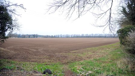 Land in Thetford where 5,000 homes will be built. Picture: Sonya Duncan