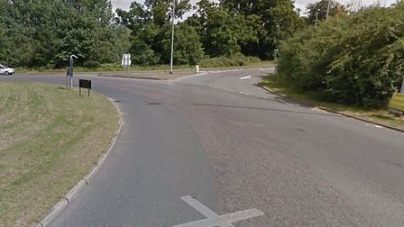 The A1066 and A1088 roundabout in Thetford (Image: Google Maps)