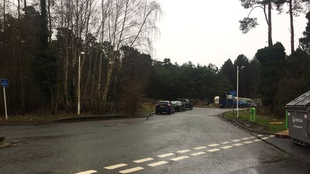 View of the travellers' site by the petrol station on the A11 near Thetford. Picture: Rebecca Murphy