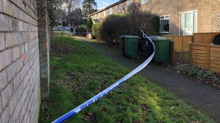 A man in his 30s was stabbed at a property in Kimms Belt, Thetford in January. Photo: Harriet Orrell