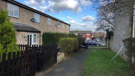 A man in his 30s was stabbed at a property in Kimms Belt, Thetford, in January. Photo: Harriet Orrel