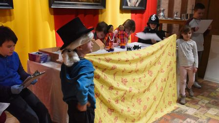 Thetford schoolchildren act out the suffrage work of the Princesses Sophia and Catherine Duleep Sing