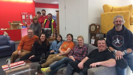 Staff and volunteers at the British Heart Foundation shop in Thetford. Picture: Rebecca Murphy