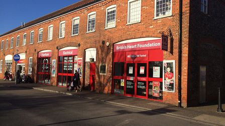 The British Heart Foundation furniture and electrical shop in Thetford. Picture: Rebecca Murphy